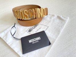 Moschino Lettering Gürtel Leder Blogger