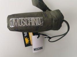 Moschino Folding Umbrella black-khaki