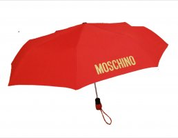 Moschino Paraguas plegable color oro-rojo Poliéster