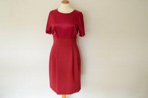 MOSCHINO rotes Midi Kleid mit kurzen Armen D 38 IT 44 CheapandChic