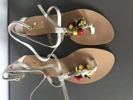 Love Moschino Sandały japonki biały-w kolorze białej wełny