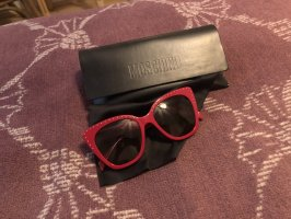 Moschino Retro Glasses brick red