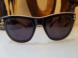 Moschino Milano Hoekige zonnebril wit-zwart