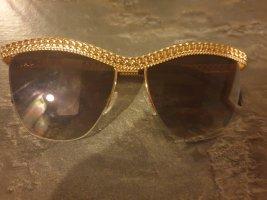 Moschino Gafas de sol ovaladas color oro-marrón