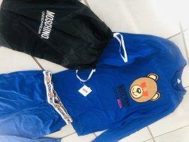 Moschino UnderBear Pyjama Set Leggings Pulli Teddy bär mit Tasche blau
