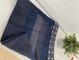 Moshiki Wraparound Skirt dark blue