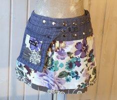 Moshiki Wraparound Skirt lilac cotton