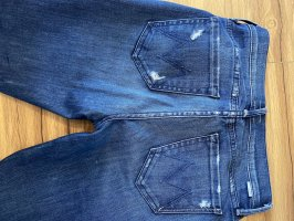 Mother Jeans a gamba dritta blu