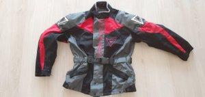 Dainese Kurtka typu biker czarny-czerwony Tkanina z mieszanych włókien