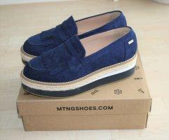 Mtng Slipper Sneaker Espadrilles 38 Blau Neuwertig!