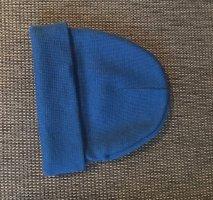 Cappello in tessuto blu