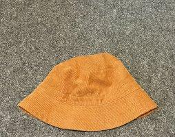Monki Czapka z tkaniny ciemny pomarańcz