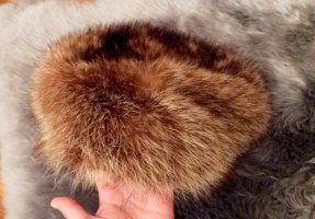 Fur Hat multicolored fur