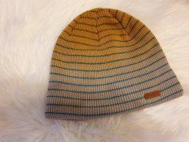 Barts Chapeau en tricot beige clair-bleu clair