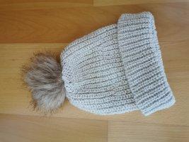 Bershka Cappello a maglia marrone chiaro-beige chiaro