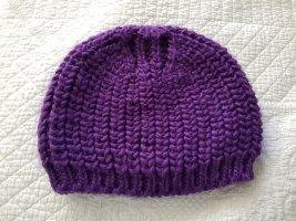Codello Chapeau en tricot bleu violet