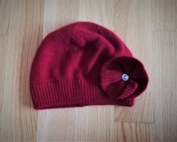 keine Knitted Hat multicolored angora wool
