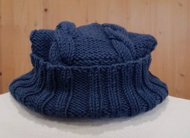 Knitted Hat steel blue