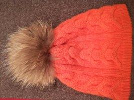 Steffner Bobble Hat orange new wool