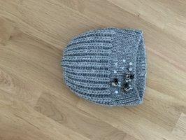 Hallhuber Cappello a maglia grigio chiaro