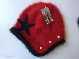 Fur Hat red-black