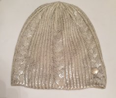 Opus Knitted Hat natural white-gold-colored