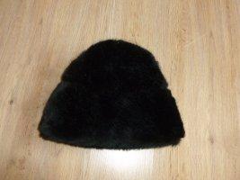 Mütze Pelzmütze Fell schwarz