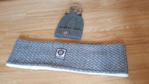 Superdry Cappello con pon pon grigio chiaro-grigio