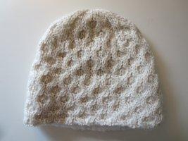 Mütze Strick Wollmischung wollweiß Casual