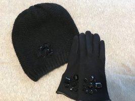 Hallhuber Cappello a maglia nero Acrilico