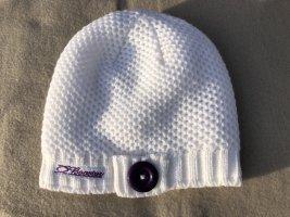 Mütze von Booster, weiß, Fleece innen, One Size, Neu