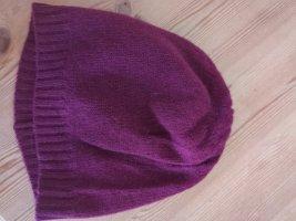 Codello Sombrero de punto púrpura-rojo oscuro