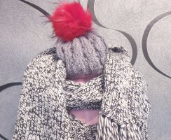 Ohne Bobble Hat grey-red