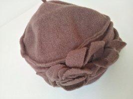 Chapeau en laine brun