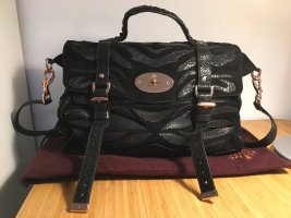 Mulberry Satchel black-rose-gold-coloured suede