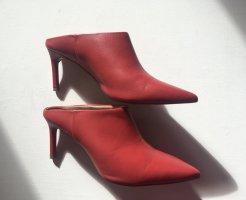 H&M Heel Pantolettes brick red