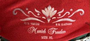 munich freedom Basic Shirt red viscose