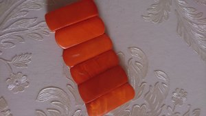 Muschel armband Orange