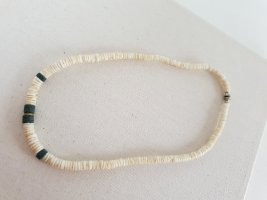 Modeschmuck Shell Necklace white-petrol