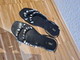 Zara Sandały plażowe czarny