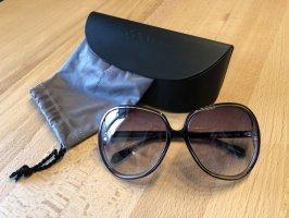 Oliver Peoples Gafas de sol redondas color oro-azul oscuro