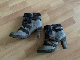 Mustang Heel Boots silver-colored