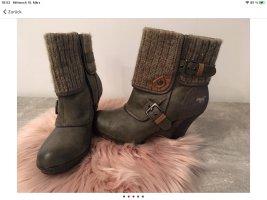 Mustang Shoes Bottine d'hiver vert olive-gris brun