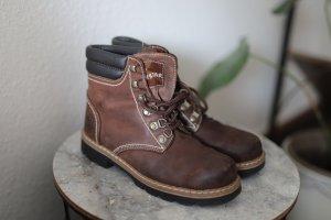 Lace-up Boots cognac-coloured leather