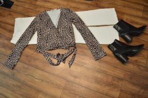 Nakd Wraparound Shirt dark brown-light brown