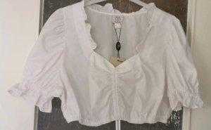 Naber Collection Blouse bavaroise blanc coton