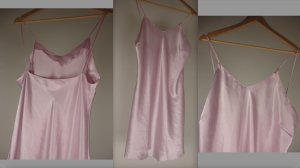 Fond de robe rose clair-rosé polyester