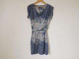 Naf naf Summer Dress white-steel blue