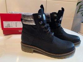 Nagelneu s.Oliver Leder Boots/Stiefeletten, Night Blue, Casual-Look