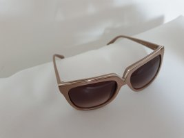 Valentino Angular Shaped Sunglasses nude